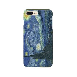 meiga-フィンセント・ファン・ゴッホ-星月夜(スマホケース) Smartphone cases
