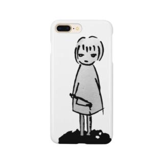 ナイフガール Smartphone cases