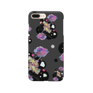 Life is colorful 黒 Smartphone Case
