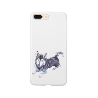 シベリアンハスキー Smartphone cases