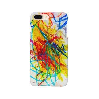 2歳の息子がクレヨンで描いた絵 Smartphone cases
