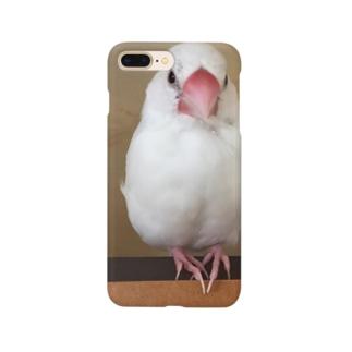 白文鳥のおもちさん Smartphone cases
