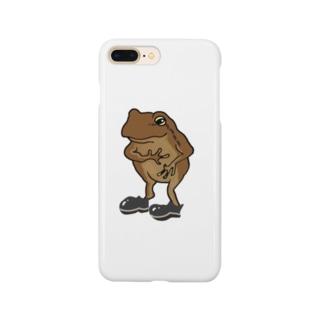 カエル(フォーマル) Smartphone cases