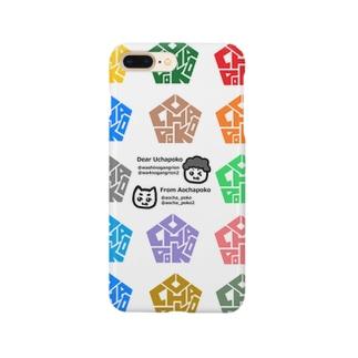 カラフルうーちゃぽこ印 Smartphone cases