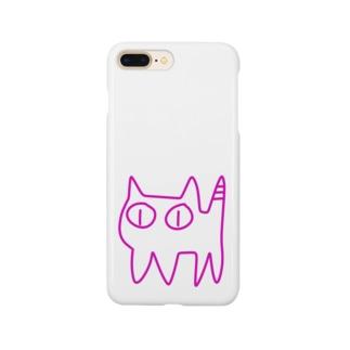 ねこですから。ピンク Smartphone cases