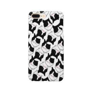 ハチワレ柄 Smartphone cases