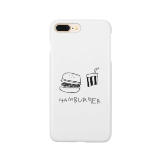 hamburger白 Smartphone cases