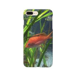 赤い魚 スマートフォンケース