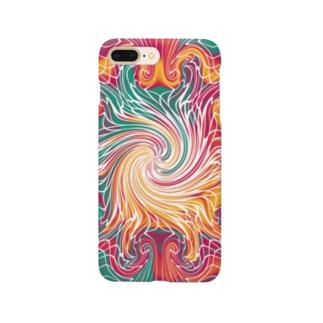 カラフルマーブル Smartphone Case