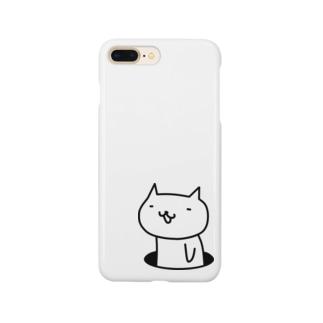穴ネコ Smartphone cases