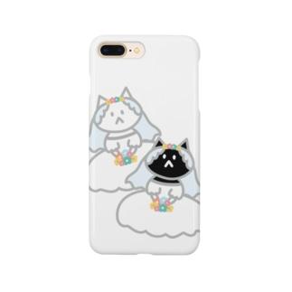 シロクロニャンコニャンコ Smartphone cases