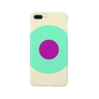 サークルa・クリーム・ペパーミント・パープル2 Smartphone cases