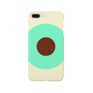 サークルa・クリーム・ペパーミント・チョコ Smartphone cases