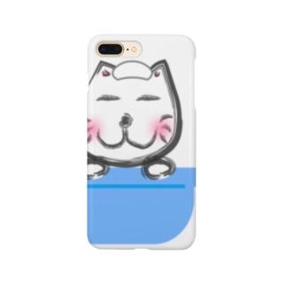ネコ太郎もお風呂で丸くなる スマートフォンケース