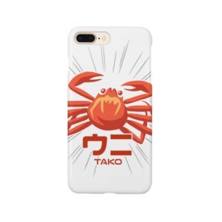 カニ・ウニ・TAKO! Smartphone cases