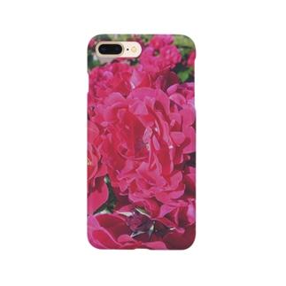赤い 薔薇 rose 真っ赤 Smartphone cases