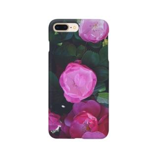 ピンク 薔薇 ローズ rose  Smartphone cases