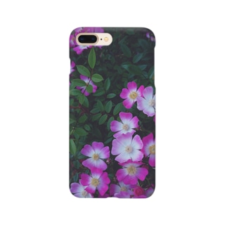nico&ice storeの安曇野 アズミノ ピンク pink 花畑 Smartphone cases