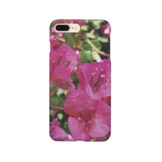 ブーゲンビリア ピンク ボタニカル  Smartphone cases