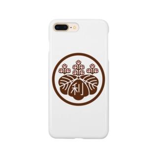 パ紋No.3011 利 Smartphone cases