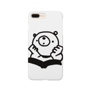 思索するくま Smartphone cases