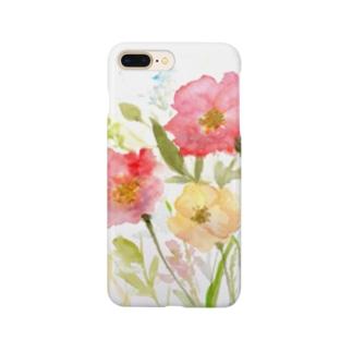 水彩花 Smartphone cases