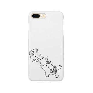 ゾウさんとお花 Smartphone Case