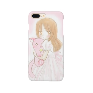 縫いぐるみ抱っこ女の子 Smartphone cases