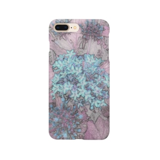 blue 花 Smartphone cases