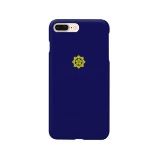 kamon 組合い角に桔梗(坂本龍馬)(スマホケース) Smartphone cases