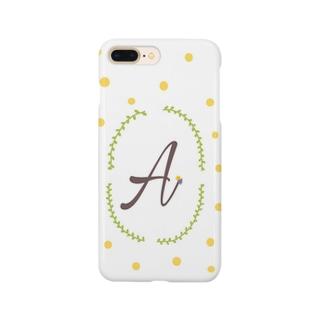 イニシャルA Smartphone cases