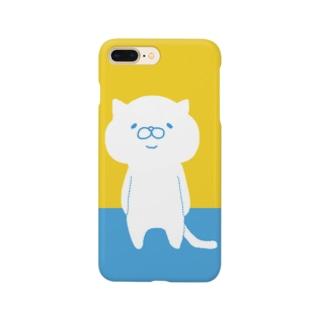 ツートンカラー(黄) Smartphone cases