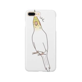 【オカメインコ】ビビりほほ1 Smartphone cases