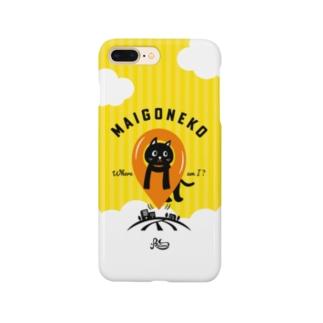 迷子のネコ(イエロー) Smartphone cases