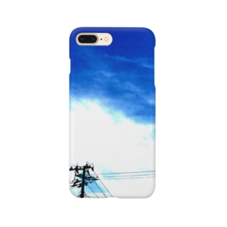 電線する。夏(縦) Smartphone cases