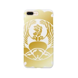 外雪輪覗き木瓜鳳凰 Smartphone cases