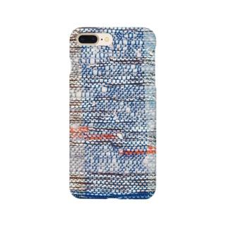 青系の織布 Smartphone cases