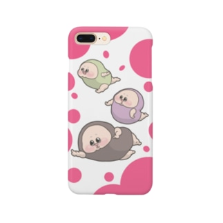 まむだんバブルベリー Smartphone cases