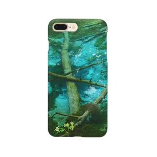 神の子ブルー Smartphone cases
