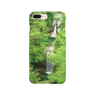 深緑の滝 Smartphone cases