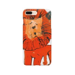 ひとみしり!ライオン Smartphone cases