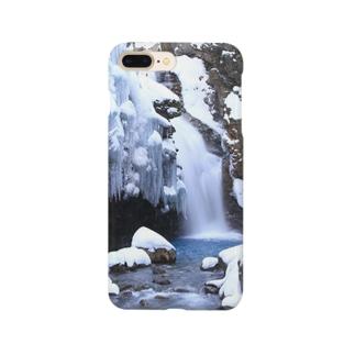 Toshiaki Sakuraiの冬の秘瀑 Smartphone cases