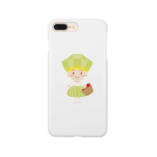 8月誕生石ペリドットちゃん Smartphone cases