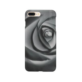 薔薇 水墨画 スマホケース Smartphone cases