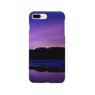 日没 景色 Smartphone cases