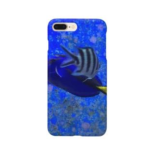 交差する魚 スマートフォンケース