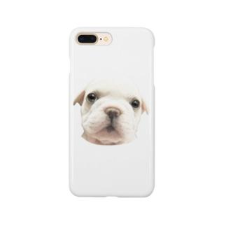 フレンチブルドッグA 子犬 スマートフォンケース