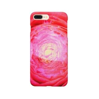 赤い花の器02 Smartphone cases