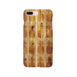 パイン総柄 スマホケース Smartphone cases