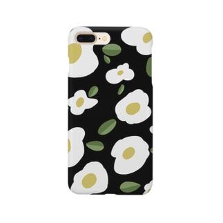 おはなのスマホケース【black】 Smartphone cases